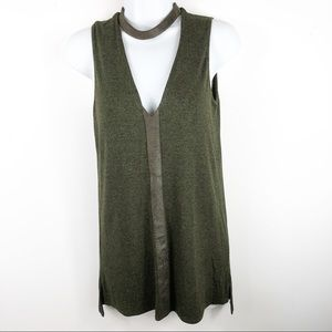 SW3 Bespoke Sleeveless Sweater w/Choker Collar
